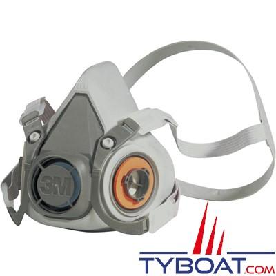 3M - Demi masque caoutchouc 6300 sans filtre taille L