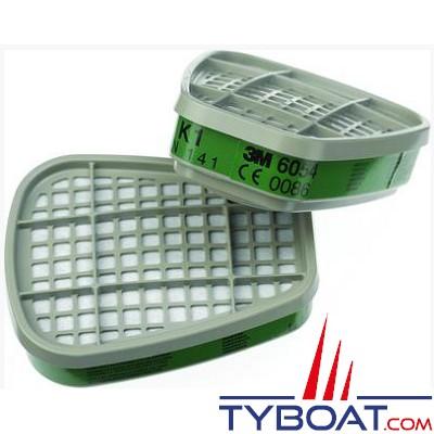 3M - Filtres vapeurs organiques A2 pour masques 6000/7000 (boîte de 4 paires)