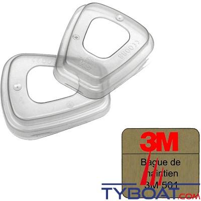 3M - Bague de maintien filtres K59xx sur K6051 & 6055 (boîte de 2)
