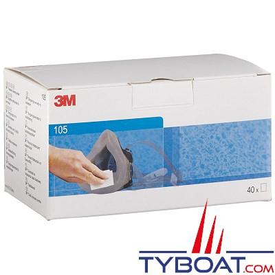 3M -  Lingette nettoyante désinfectante pour masques (boîte de 40)
