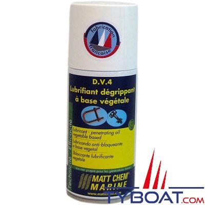 Matt Chem Marine - D.V.4 - Dégrippant / Lubrifiant végétal - Aérosol 150 ml