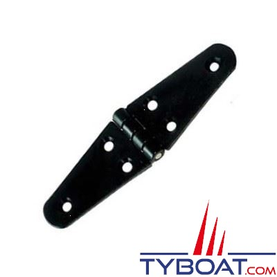 Charnière nylon axe inox 100x40 mm