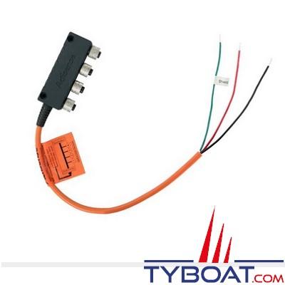 Actisense - Connecteur NMEA2000 4 voies + Câble d'alimentation et terminaisons intégrées