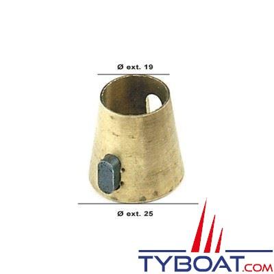 Adaptateur cône Morse vers cône Vetus Ø19/25mm + clavette