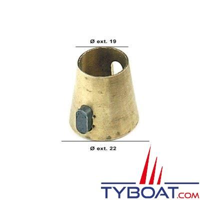 Adaptateur cône Morse vers cône Lecomble et Smith Ø19/22mm + clavette
