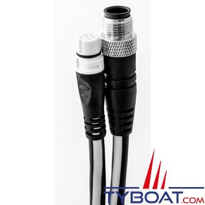 Adaptateur Raymarine Seatalk NG vers NMEA 2000 connecteur Micro C mâle - 0.4 mètre