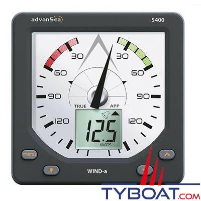 Advansea - Afficheur girouette anémomètre Wind-A S400 sans tête de mât