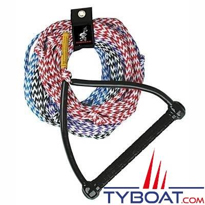 Airhead - Corde à ski polypropylène / Palonnier triangulaire aluminium et caoutchouc antidérapant - longueur 25m