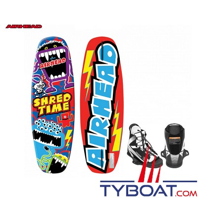 Airhead - Pack wakeboard shred-time - jusqu'à 58 Kg