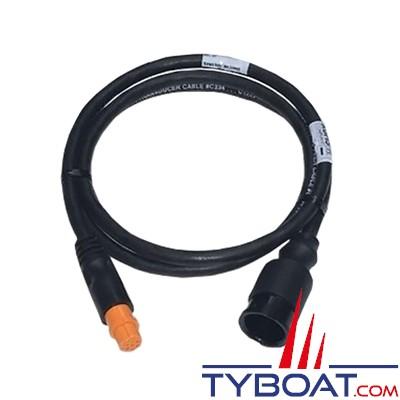 Airmar - Câble adaptateur pour sonde CHIRP - Connecteur générique vers connecteur Garmin 12 PIN