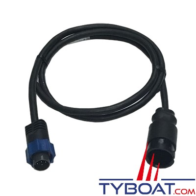 Airmar - Câble adaptateur pour sonde CHIRP simple Mix & Match vers connecteur Lowrance/Simrad/B&G 7 PIN bleu