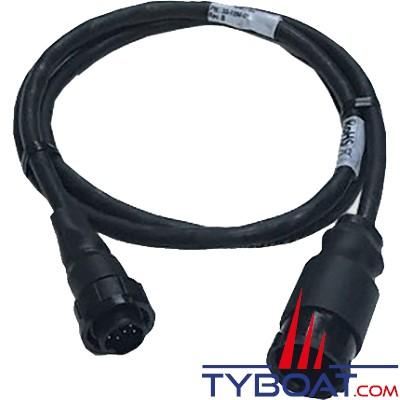 Airmar - Câble adaptateur sonde CHIRP avec connecteur générique vers connecteur 9 PIN X-Sonic (Lowrance/Simrad/B&G)