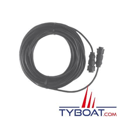 Airmar - Câble interface sonde générique 600w vers Lowrance prise bleue 7 pin profondeur/température - 9 mètres