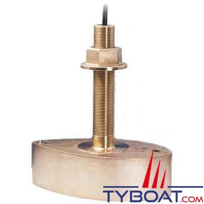 AIRMAR - Sonde traversante bronze B260 DT XID 1Kw - 50/200BH profondeur et température - connecteur mâle 9 PIN M&M - sans fairing
