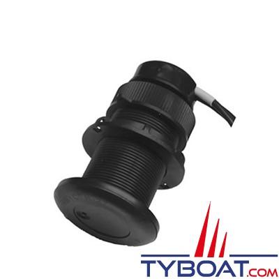 Airmar - Sonde traversante plastique DT800 - 100W - 235 KHz - Angle céramique 0° - Connecteur Micro-C NMEA2000