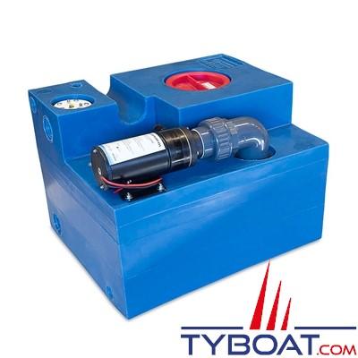 Albin Pump Marine - Kit complet réservoir eaux noires - Capacité 47 Litres - 03-02-009