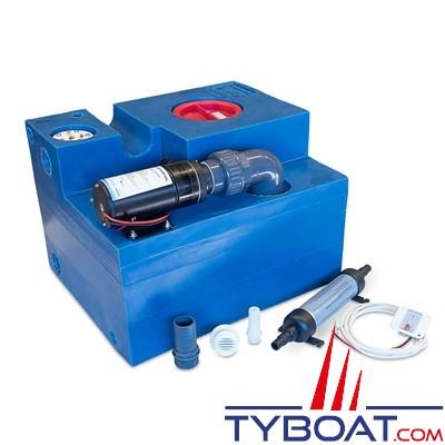Albin Pump Marine - Kit complet réservoir eaux noires - Capacité 72 Litres - 03-02-010