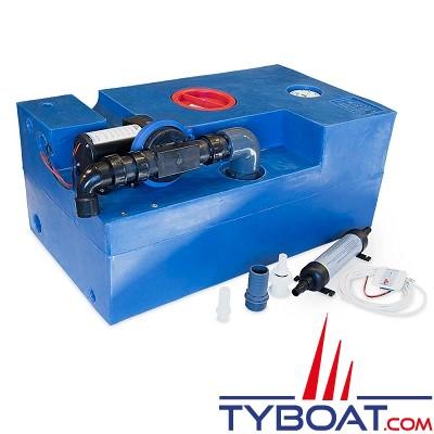 Albin Pump Marine - Kit complet réservoir eaux noires - Capacité 72 Litres - 12 Volts- 03-02-008