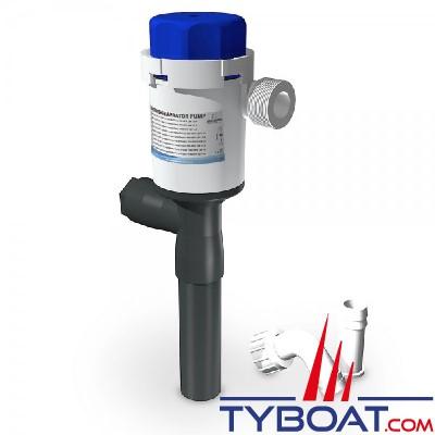 Albin Pump Marine - Pompe aérateur Twinport - 1100 GPH 75L/min - 12v - sortie droite - 01-05-081