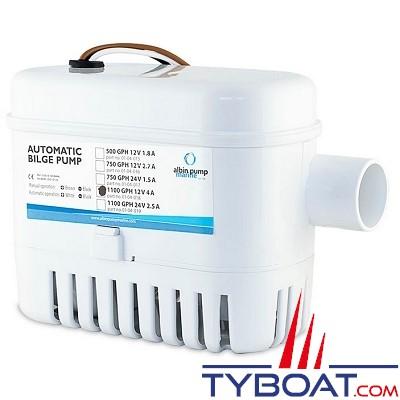 Albin Pump Marine - Pompe de cale automatique 1100 GPH - 75 Litres/minute - 12 Volts - 01-04-018