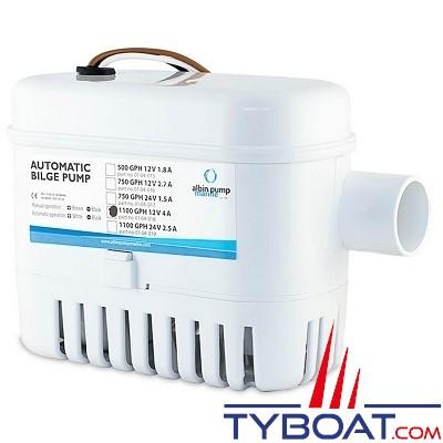 Albin Pump Marine - Pompe de cale automatique 1100 GPH - 75 Litres/minute - 24 Volts - 01-04-019