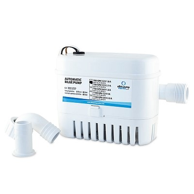 Albin Pump Marine - Pompe de cale automatique  500 GPH - 32 Litres/mm - 12 Volts - 01-04-015