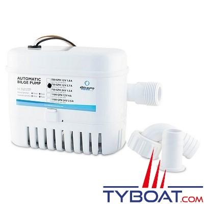 Albin Pump Marine - Pompe de cale automatique  750 GPH - 50 Litres/minute - 12 Volts - 01-04-016