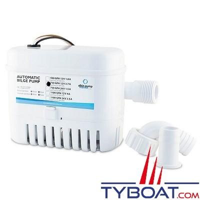 Albin Pump Marine - Pompe de cale automatique  750 GPH - 50 Litres/minute - 24 Volts - 01-04-017