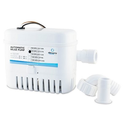 Albin Pump Marine - Pompe de cale automatique  750 GPH - 50 Litres/mm - 12 Volts - 01-04-016