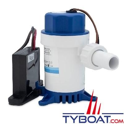Albin Pump Marine - Pompe de cale automatique avec contacteur à induction 1100 GPH - 75 Litres/minute - 12 Volts - 01-43-091