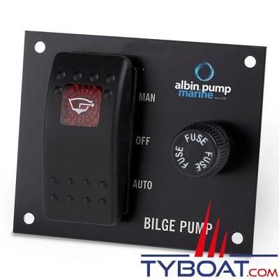 Albin Pump Marine - Tableau de commande pour pompe de cale - 24 Volts - 01-66-028