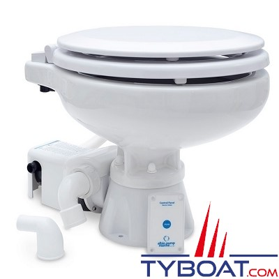 Albin Pump Marine - WC marin électrique Standard EVO Compact Bas - 24 Volts - 07-02-009