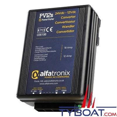 Alfatronix - PV12S - Convertisseur de tension 24/12 Volts - 12 /18 Ampères non isolé