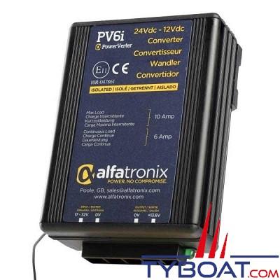 Alfatronix - PV6i - Abaisseur de tension 24/12 Volts - 6/10 Ampères - isolé