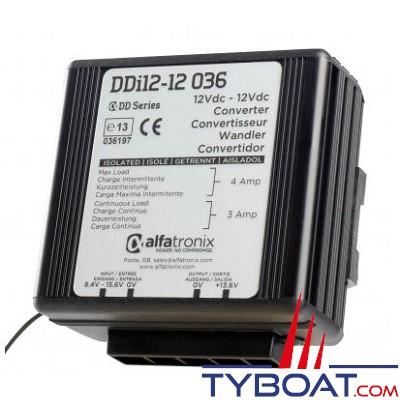 Alfatronix - Stabilisateur de tension isolé DDi 12-12 036 - 12 Volts/12 Volts - 3 Ampères