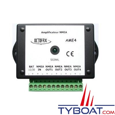 Amplificateur NMEA Octofax AME-4 - 1 entrée / 4 sorties