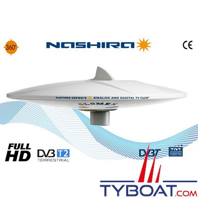 Antenne TV Glomex V9112 NASHIRA omnidirectionnelle analogique et digitale