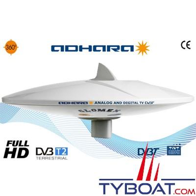 Antenne TV Glomex V9150 Adhara AGC 36 dB omnidirectionnelle analogique et digitale