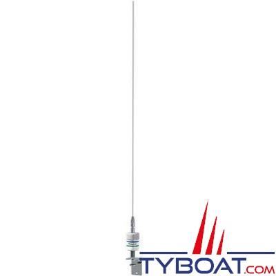 Antenne VHF Shakespeare 5215-D 0.9m 3dB, antenne fouet inox, bobinage cuivre sous boîtier étanche, connecteur SO-239 + support