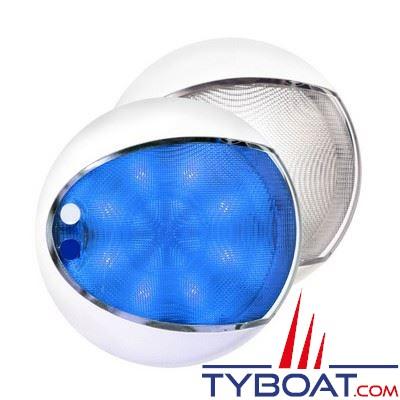 Applique à LEDs Hella Marine EuroLed Touch bleu/blanc 12/24V Ø129,5mm avec variateur intégré