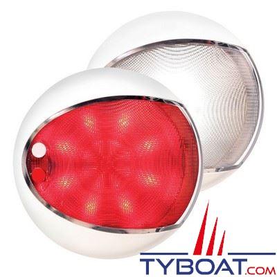 Applique à LEDs Hella Marine EuroLed Touch rouge/blanc 12/24V Ø129,5mm avec variateur intégré