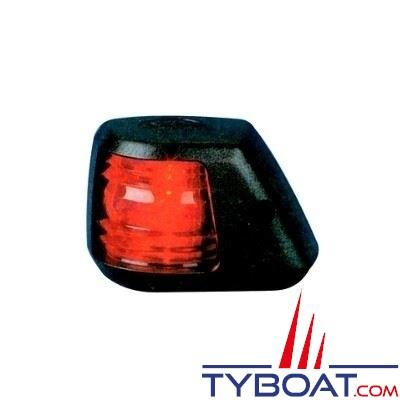 Aqua Signal - Feu bâbord 112,5° - Série 20 - Noir - Pour bateaux inférieurs à 12 mètres