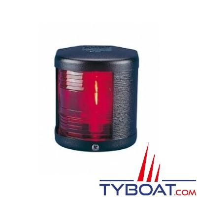 Aqua Signal - Feu bâbord 112,5° - Série 25 standard - Noir - Pour bateaux inférieurs à 12 mètres