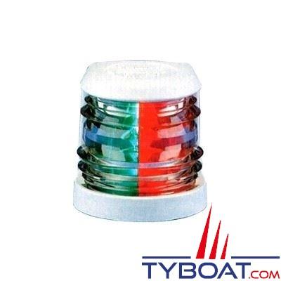 Aqua Signal - Feu bicolore vert/rouge 112,5° - Série 20 - Blanc - Pour bateaux inférieurs à 12 mètres