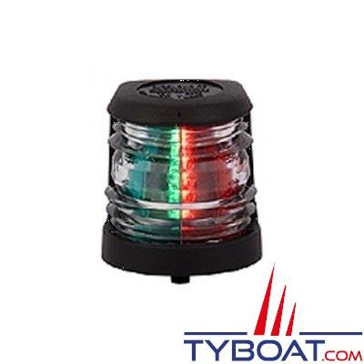 Aqua Signal - Feu bicolore vert/rouge 112,5° - Série 20 - Noir - Pour bateaux inférieurs à 12 mètres