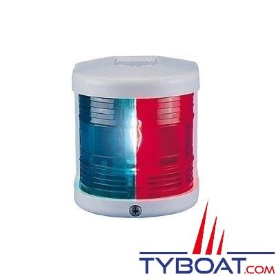 Aqua Signal - Feu bicolore vert/rouge 112,5° - Série 25 - Blanc - Pour bateaux inférieurs à 12 mètres