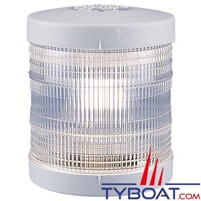 Aqua Signal - Feu de mouillage blanc 360° - Série 25 - Blanc - Pour bateaux inférieurs à 12 mètres