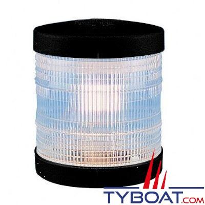 Aqua Signal - Feu de mouillage blanc 360° - Série 25 - Noir - Pour bateaux inférieurs à 12 mètres