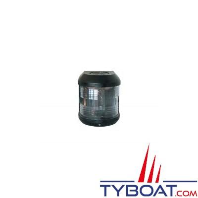 Aqua Signal - Feu de poupe blanc 135° - Série 25 standard - Noir - Pour bateaux inférieurs à 12 mètres