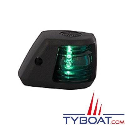 Aqua Signal - Feu tribord 112,5° - Série 20 - Noir - Pour bateaux inférieurs à 12 mètres